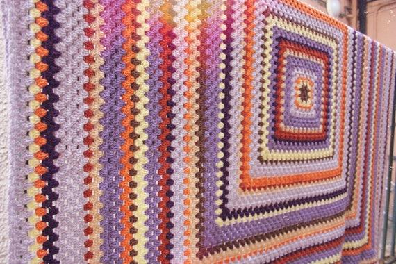 Häkeln Sie Oma quadratische Decke neuen Geist der 70er Jahre | Etsy