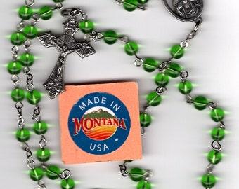Green Quartz Rosary