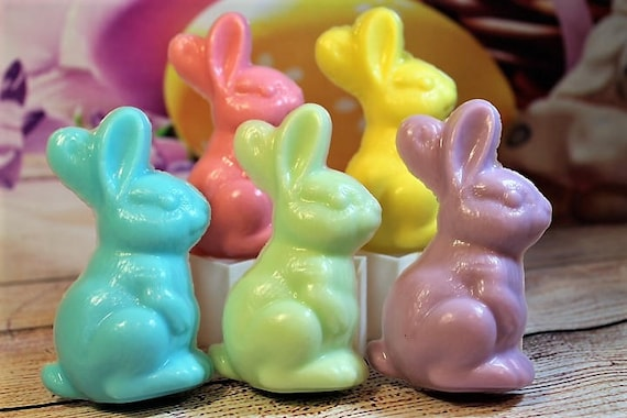 10 BUNNIES MIXED FRAGRANCES  BABY SHOWER//PARTY SOAPS CHOOSE FROM MENU