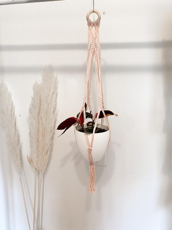 Blush Macramé Plant Hanger