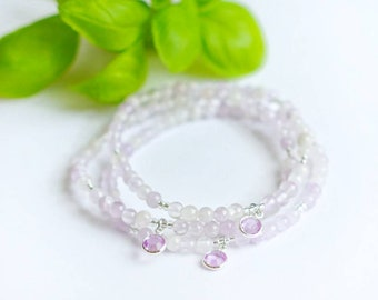 DAYDREAMER Bracelet   Lilac Amethyst, Crystal Charm   Mindful Jewelry   Coco & Lime
