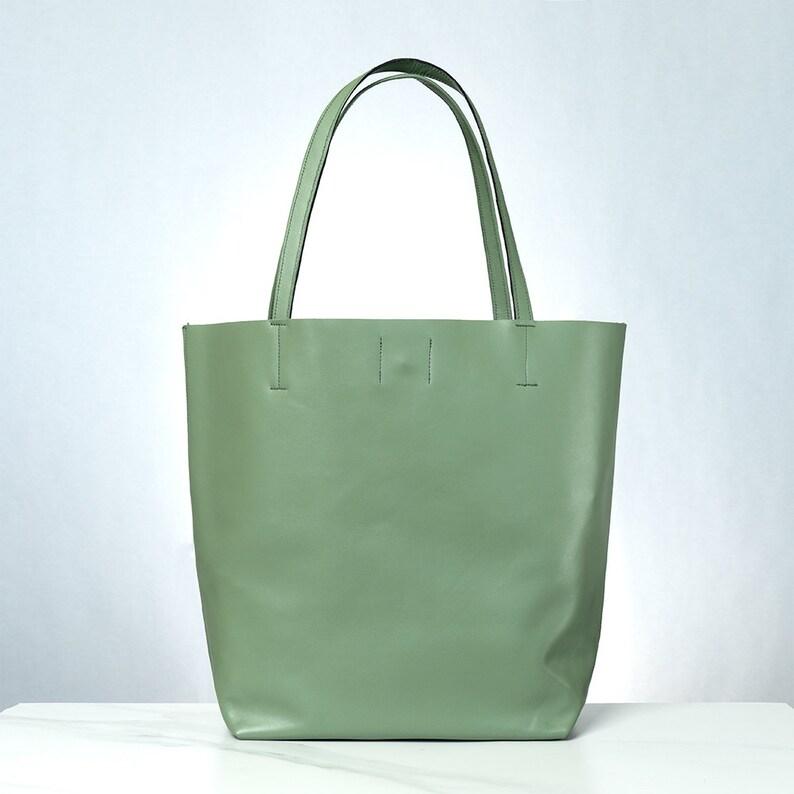 20dea070a86b4 Verkauf Greenwich Shopper Tasche grün olivgrün Leder Tasche