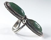 Native American Vintage Turquoise Ring Size 5.75 Handmade Multi Stone Gemstone Ring Natural Stone Statement Ring Southwestern Boho Jewelry