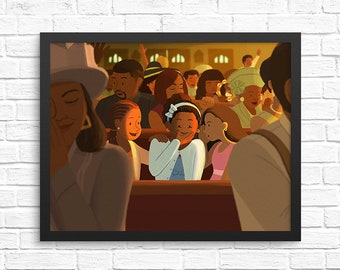 Church Memories Illustration / Carefree Black Girl Art Print