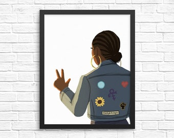 Patches Illustration / Carefree Black Girl Art Print
