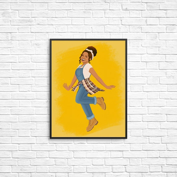 Synclaire James Art Print Living Single Illustration