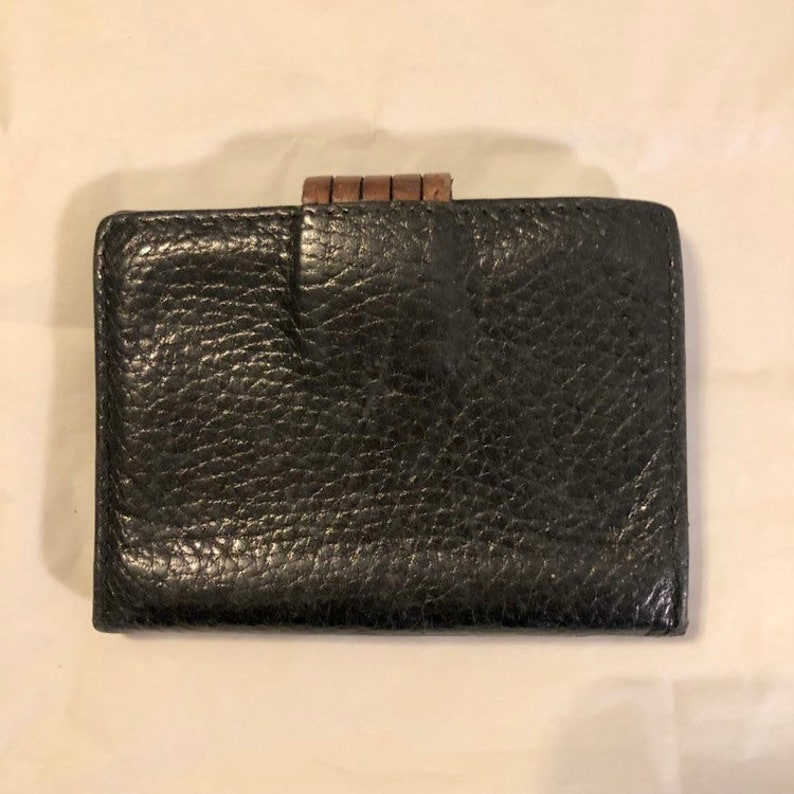 f36be0fd3474 Small Black   Brown Leather Credit Card Wallet by Desmo for