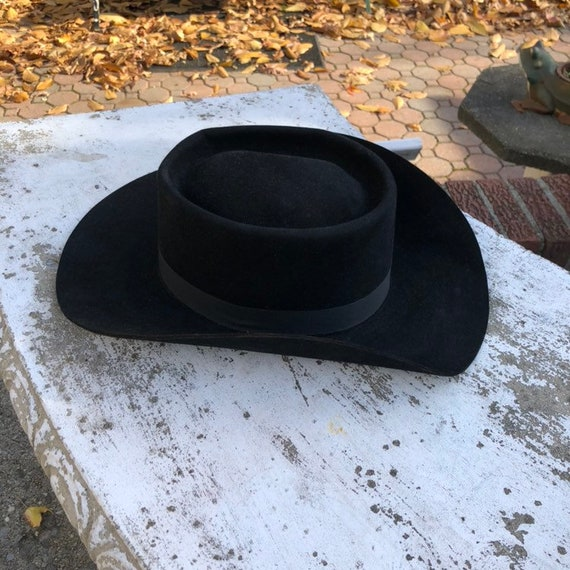 The Roundup Vintage Black Dress Bolero Straight Cowboy Hat  6c38e89baad6