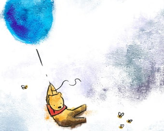Winnie the Pooh and the Blue Balloon-Print