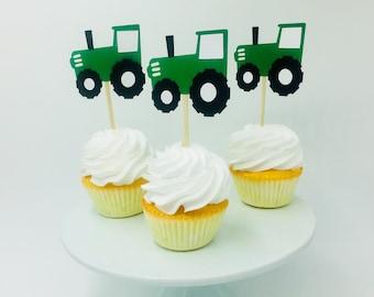 John Deere Cupcake Toppers Etsy