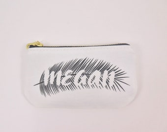 Personalized coin pouch Tropical Credit card pouch Coin purse