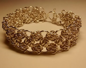 Silver Four Winds Chain Maille Bracelet