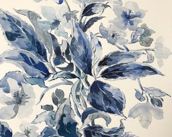 Hellebores, Blue and White