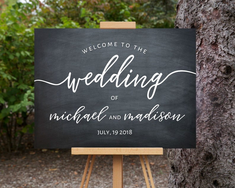 photograph relating to Printable Welcome Sign referred to as Welcome Wedding ceremony Signal Printable, Welcome Indicator, Quick Obtain, Calligraphy, Tailor made, Template 18x24\