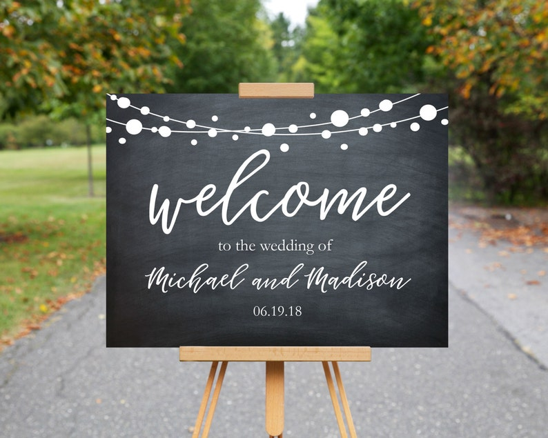 photograph relating to Printable Welcome Sign known as Welcome Marriage ceremony Indicator Printable Welcome Indicator Wedding ceremony Signs or symptoms Marriage Working day Symptoms 18x24\
