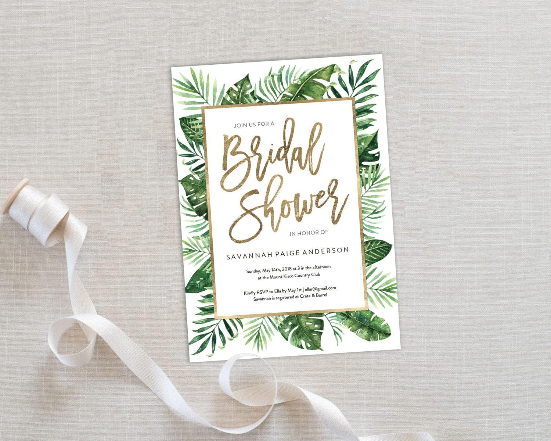 Wedding Shower Invitation: Bridal Shower Invitation Template Editable Invitation