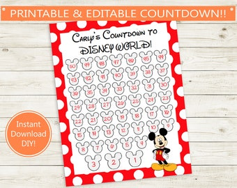 picture about Vacation Countdown Calendar Printable called Printable countdown Etsy