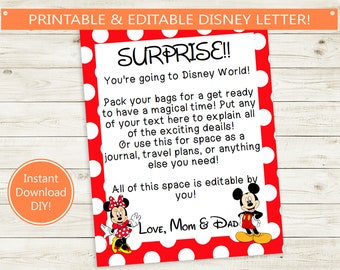 picture about You Re Going to Disney World Printable titled Disney wonder Etsy