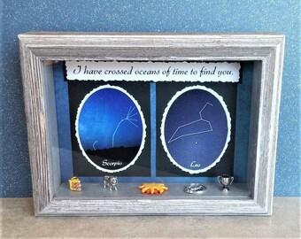 Zodiac Sign Gift-Romantic Zodiac Gift-Gift for Scorpio Man-Gift for Leo man-Zodiac Compatibility-Natal Gift-Zodiac Jewelry-Scorpio Jewelry