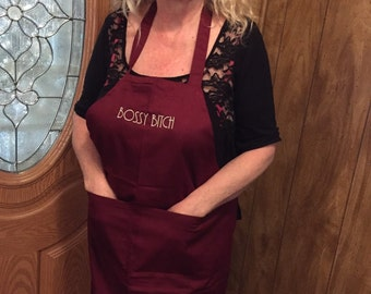 Personalized apron- your choice of words.