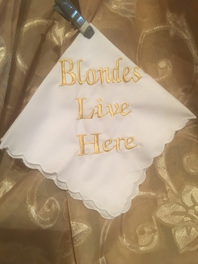 Blondes live here