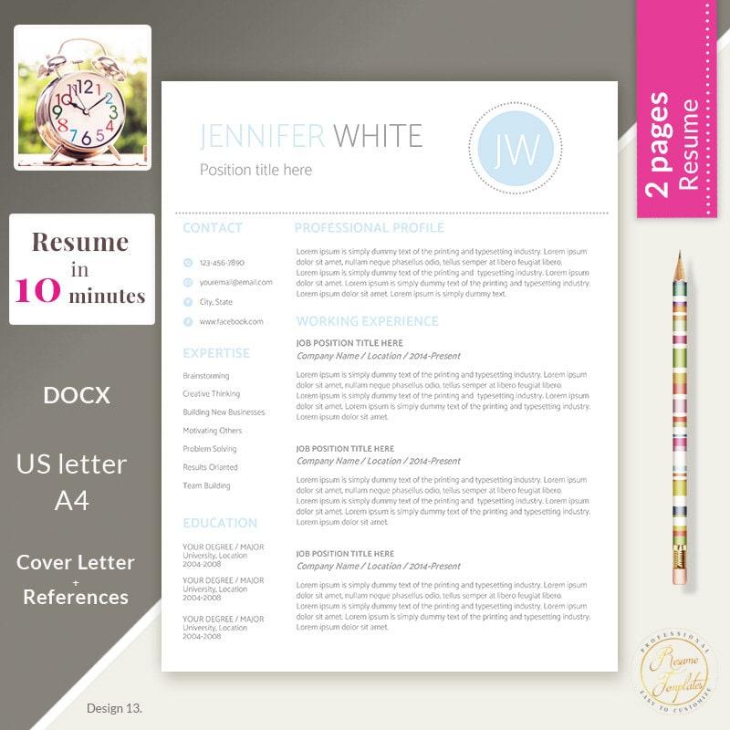 resume template word resume template cv template cv