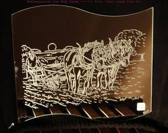 "Mirror frame wave engraving craft ""Farmer"""