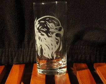 Glass etched Eagle