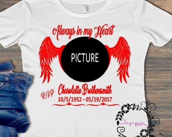 3b4568ca5 Personalized In Loving Memory shirt, RIP Shirts, Custom memorial shirts