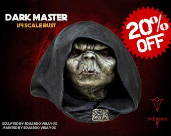 Dark Master 1/4 bust. Star Wars bust, yoda bust, resin bust, Jedi bust, Sith bust, star wars statue