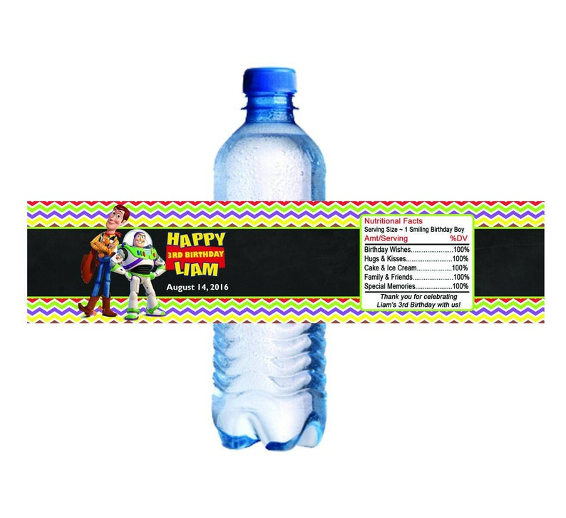 Daniel Tiger Personalized Water Bottle Label Set of 5 Printable DIY