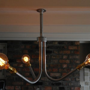 Industrial Wall Canvas Frame Metal Conduit Pipe Canvas