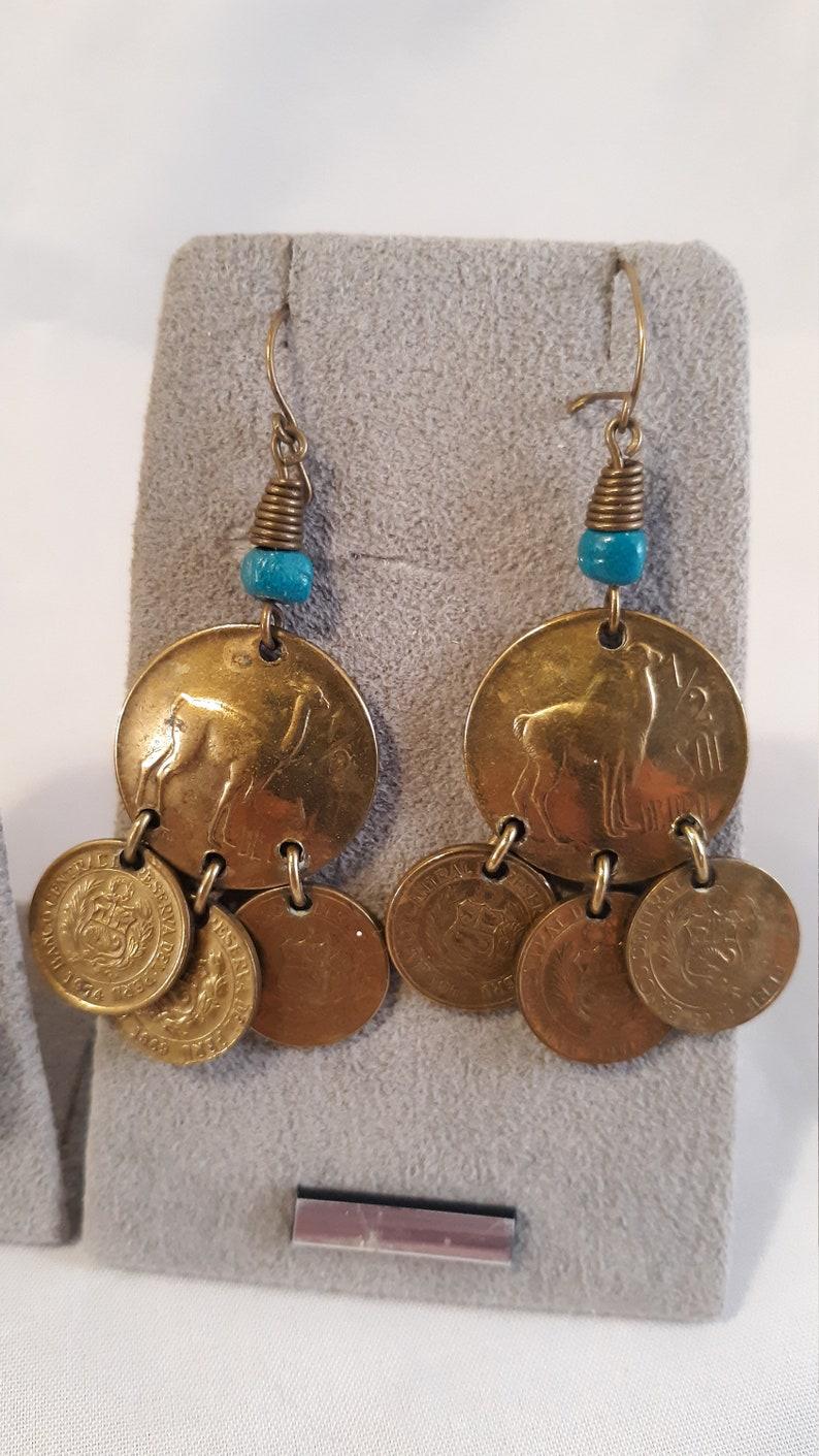 FREE Shipping Vintage PIERCED Earrings \u2013 Five pair