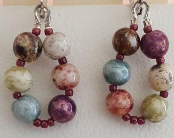 Multi Color Beaded Earrings
