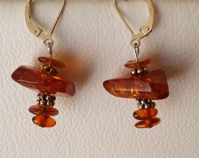 Amber and Bali Earrings