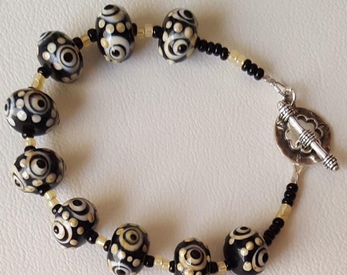 Black and Cream Bracelet