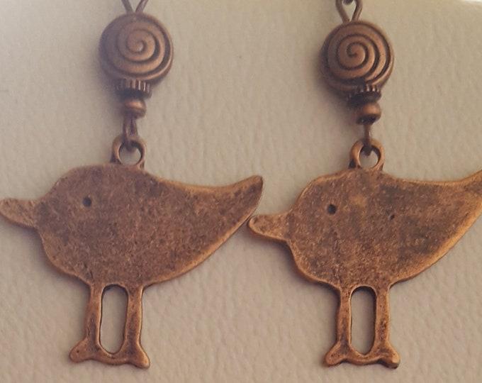 "Couple Copper ""Chicks"" Earrings"