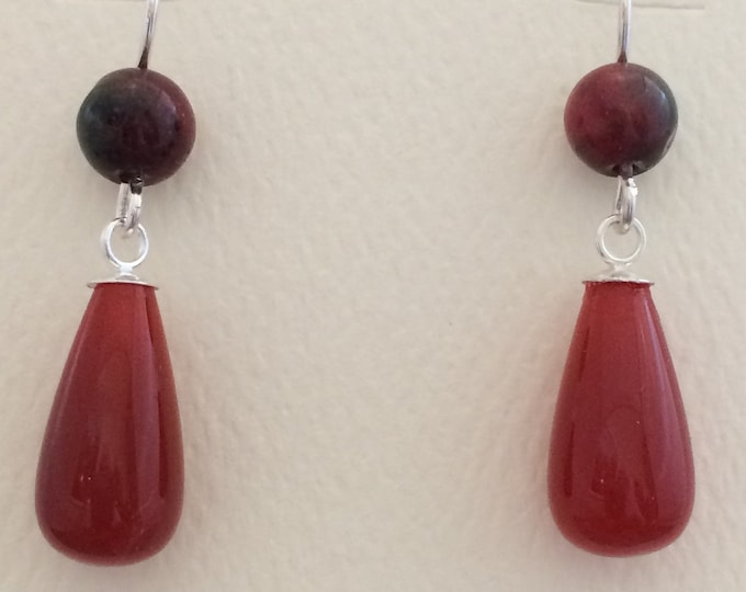 Carnelian & Agate Earrings
