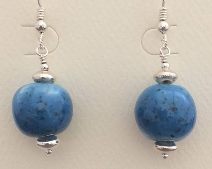 Blue Ceramic with Silver
