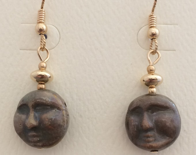Raku Faces Earrings