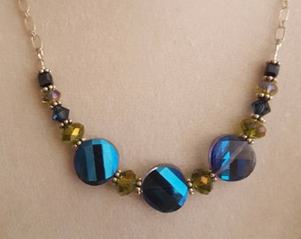 Lovely Blue and Peridot