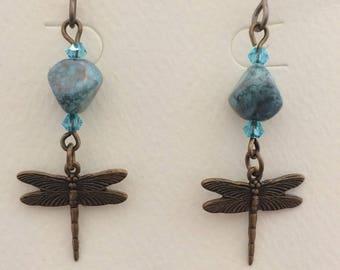 Czech Glass and Dragonflies