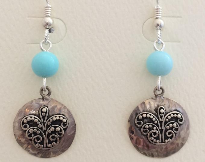 Czech Glass & Silver Butterfly Earrings