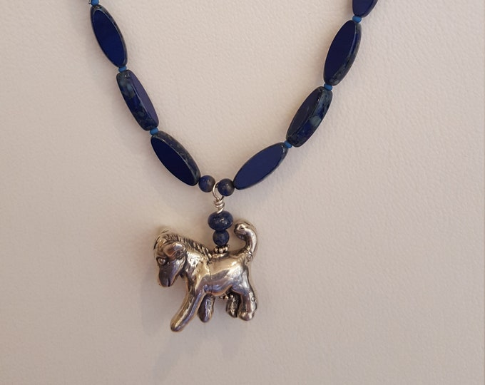 Lapis with Sterling Donkey