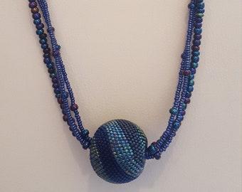 Beaded Blue Ball