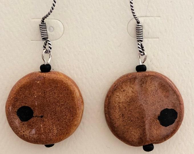 Kazuri Disk Earrings