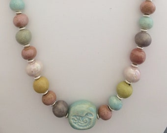 Creamy Pastel Ceramic Necklace