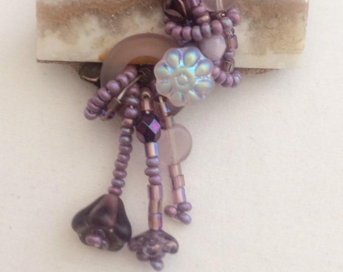 Agate Slab Purple Pin