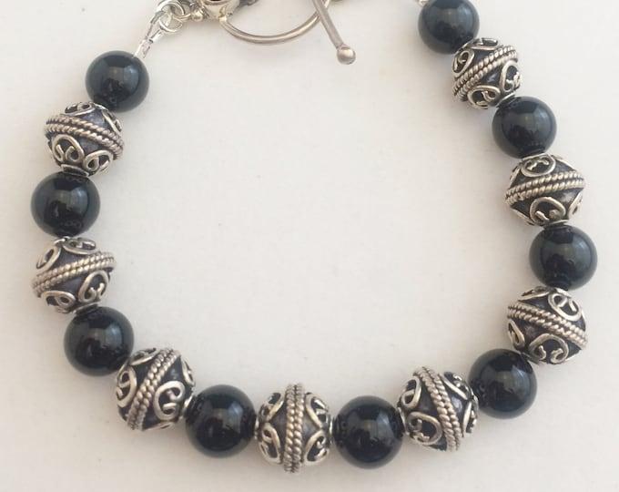 Bali and Onyx Bracelet