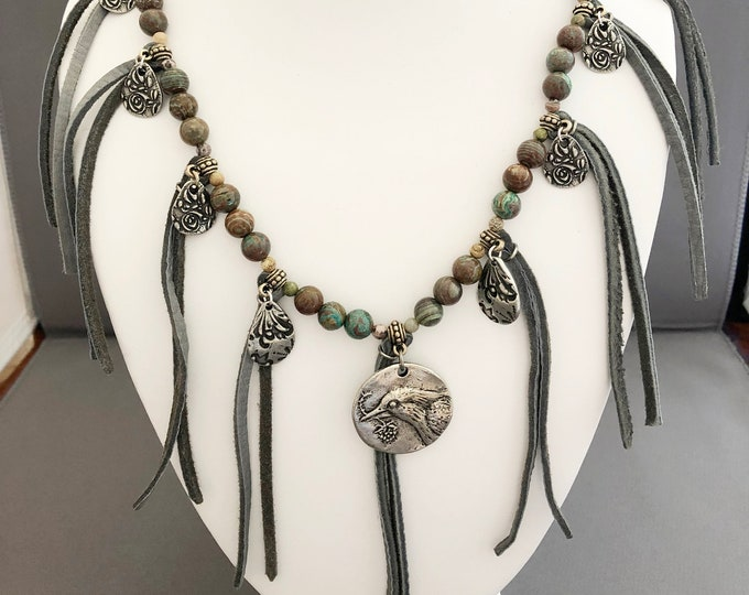 Leather Fringe and Silver Charms